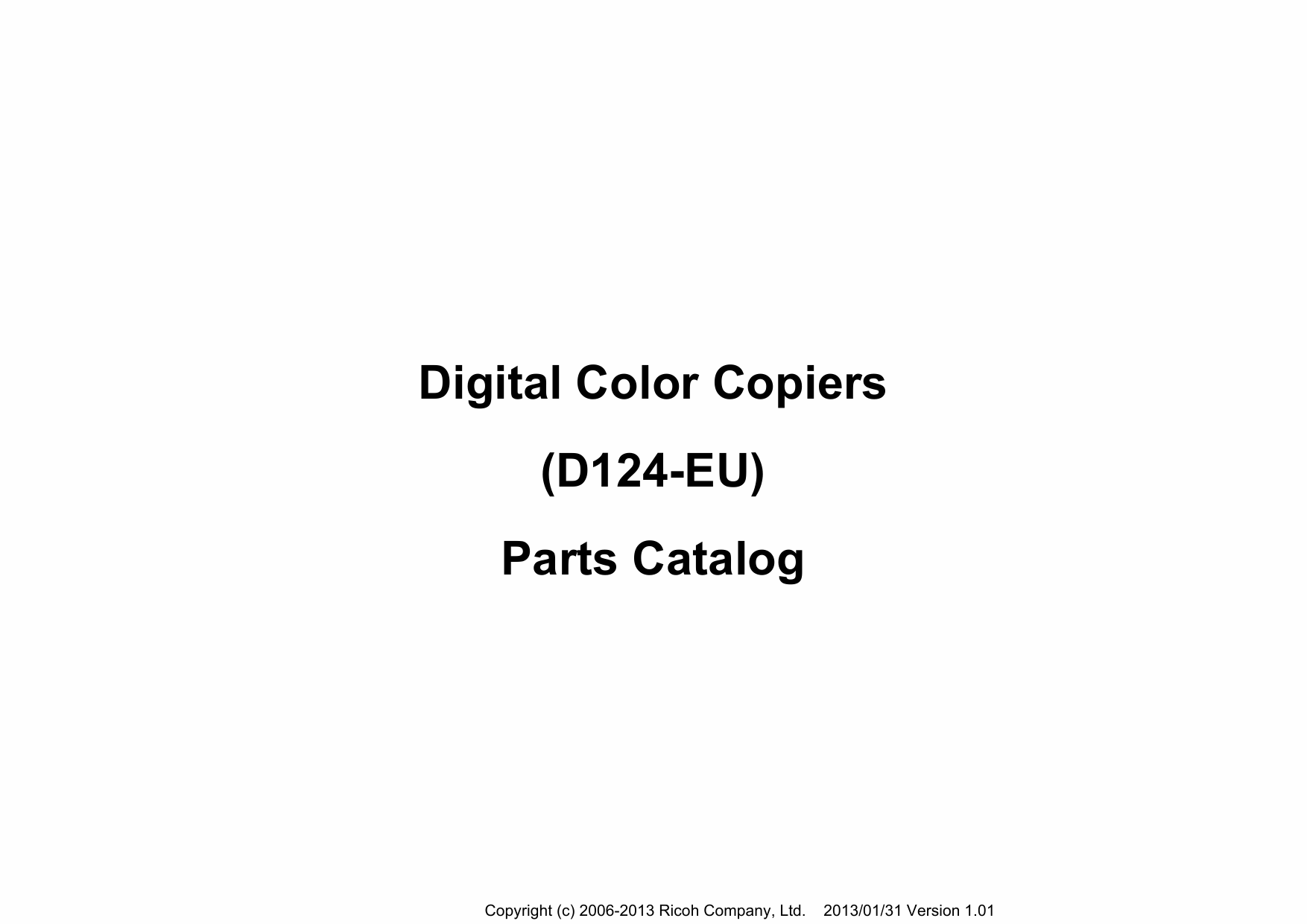 RICOH Aficio MP-CW2200SP D124 Parts Catalog-1